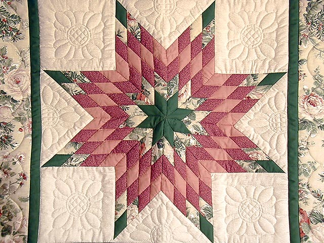Rose and Green Lone Star Wall Hanging Photo 2