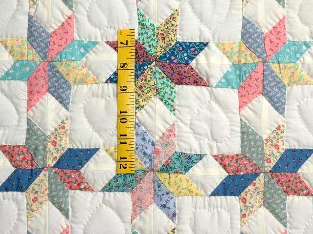 Pastel Blue Pink and Multi Little Stars Crib Quilt Photo 3