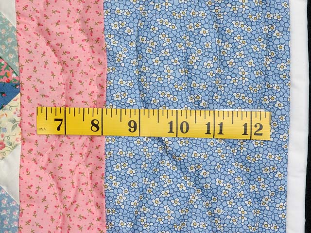 Pastel Blue Pink and Multi Little Stars Crib Quilt Photo 5