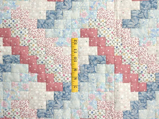 Blue and Pink Weavers Fever Crib Quilt Photo 3