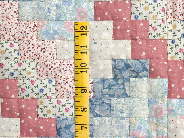 Blue and Pink Weavers Fever Crib Quilt Photo 4