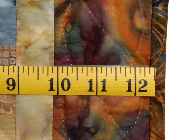 Gold and Multi Hand Painted Bargello Wave Wall Hanging Photo 6