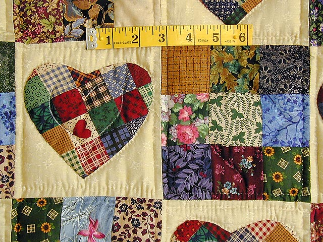Green Multicolor Hearts and Nine Patch Wall Hanging Photo 3