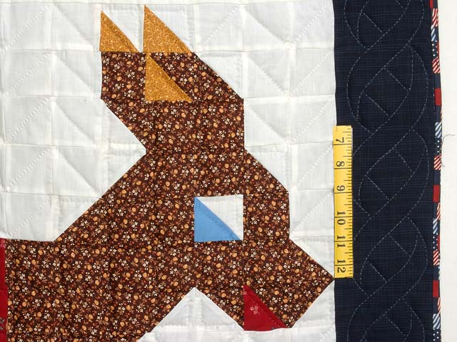 Patriotic Donkey Patchwork Crib Quilt Photo 3