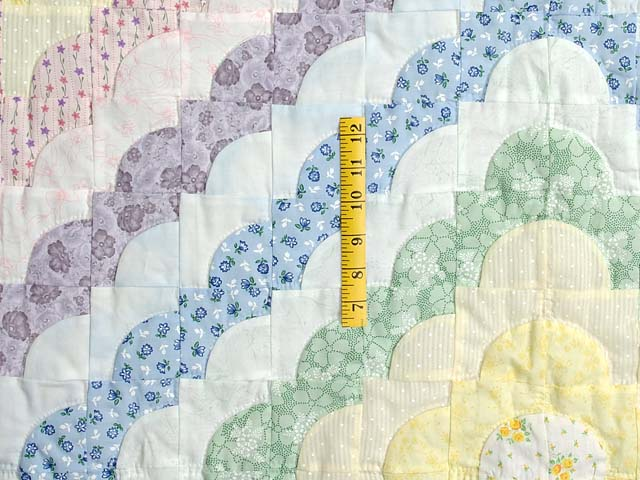 Pink and Pastels Ocean Wave Crib Quilt Photo 3