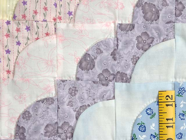 Pink and Pastels Ocean Wave Crib Quilt Photo 5