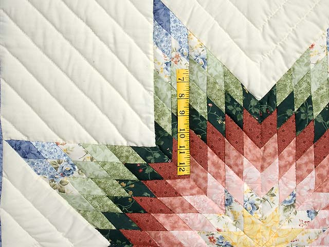 Green and Multicolor Lone Star Crib Quilt Photo 3