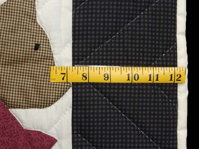 Charcoal and Plum Noahs Ark Crib Quilt Photo 5