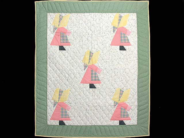 Pastel  Green and Yellow Holly Hobby Crib Quilt Photo 1