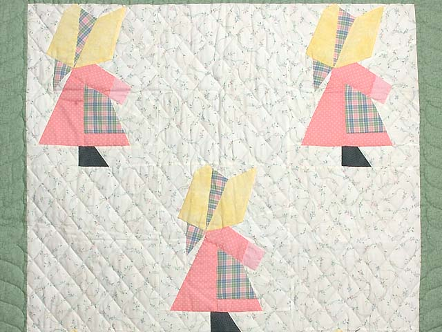 Pastel  Green and Yellow Holly Hobby Crib Quilt Photo 2