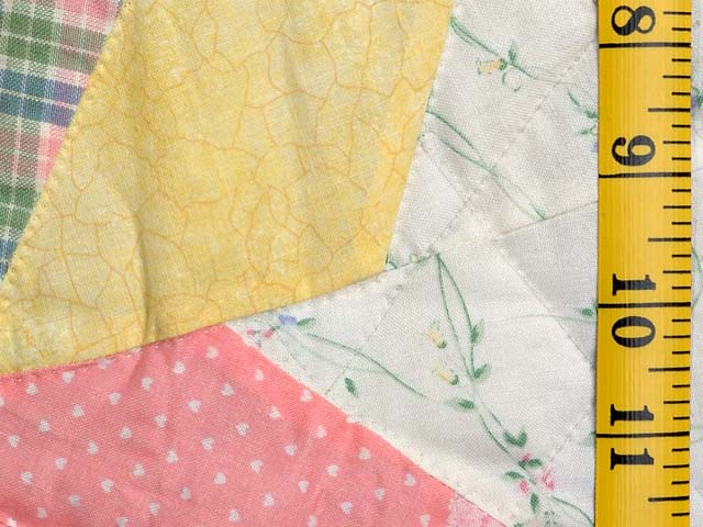 Pastel  Green and Yellow Holly Hobby Crib Quilt Photo 5