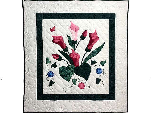 Rose and Dark Green Country Lily Wall Hanging Photo 1