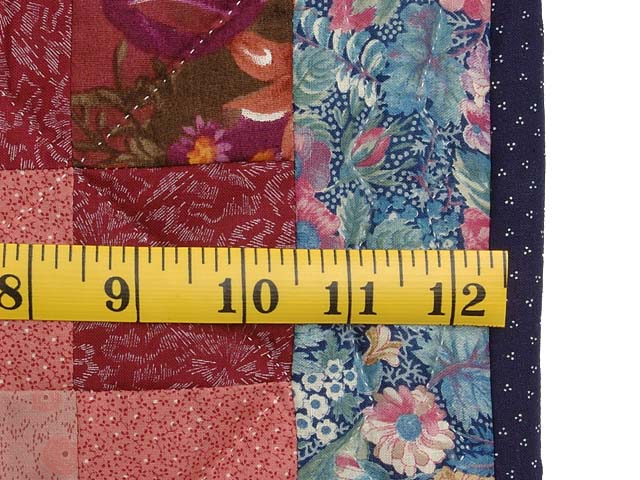 Multicolor Hit or Miss Crib Quilt Photo 6