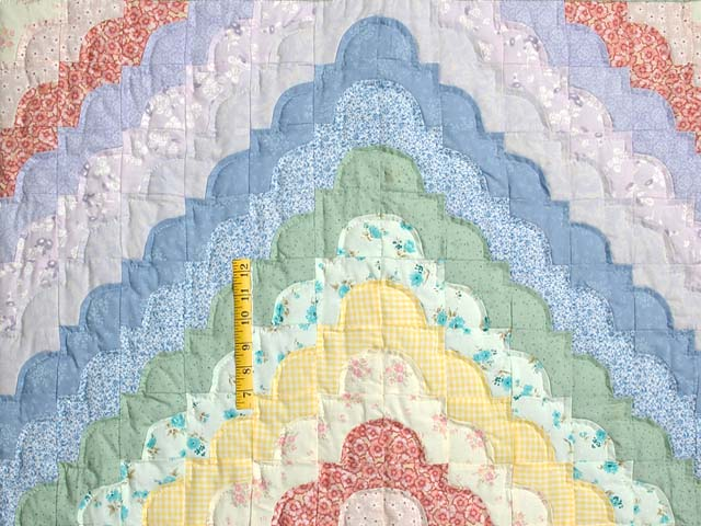 Green Yellow and Multi Ocean Wave Crib Quilt Photo 3