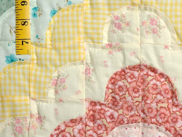 Green Yellow and Multi Ocean Wave Crib Quilt Photo 4