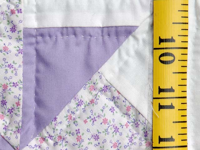 Pastel Lavender and Multicolor Pinwheels Crib Quilt Photo 4