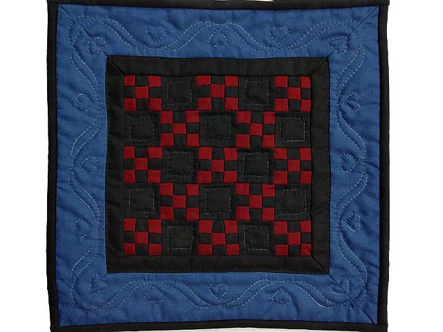 Miniature Amish Nine Patch Quilt Photo 1