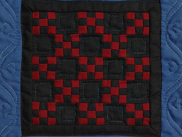 Miniature Amish Nine Patch Quilt Photo 2
