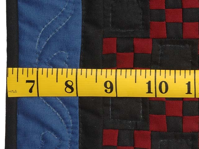 Miniature Amish Nine Patch Quilt Photo 3