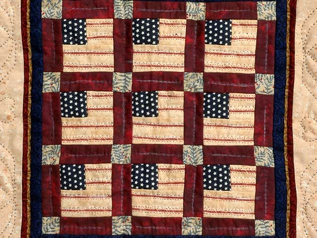 Mini Stars and Stripes Wall Hanging Photo 2