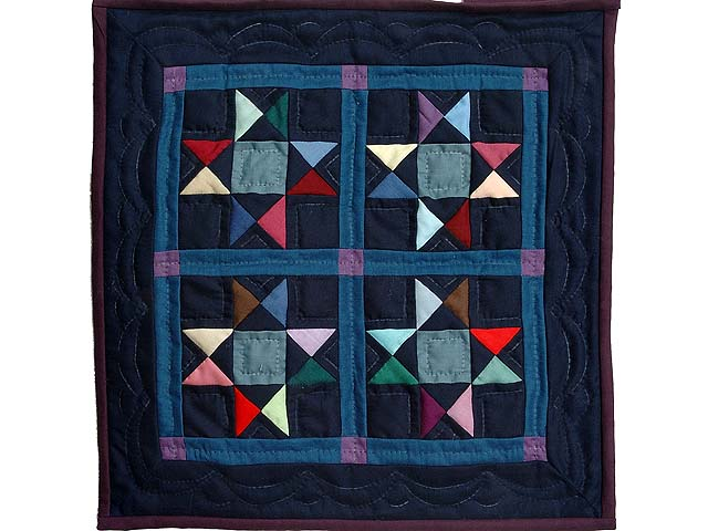 Miniature Amish Ohio Stars Quilt Photo 1