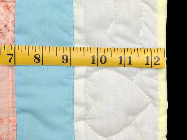 Pastel Blue and Multi Nine Patch Crib Quilt Photo 6