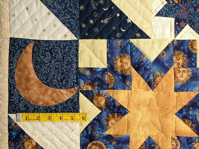 Moon and Stars Patchwork Wall Hanging Photo 3