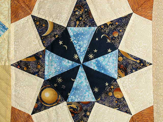 Moon and Stars Patchwork Wall Hanging Photo 4
