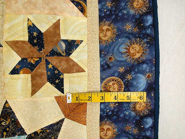 Moon and Stars Patchwork Wall Hanging Photo 5