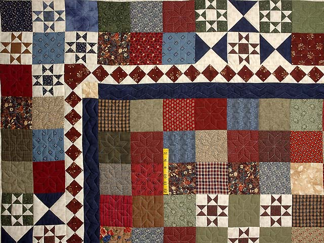 Country Home Ohio Star Sampler Throw Photo 3