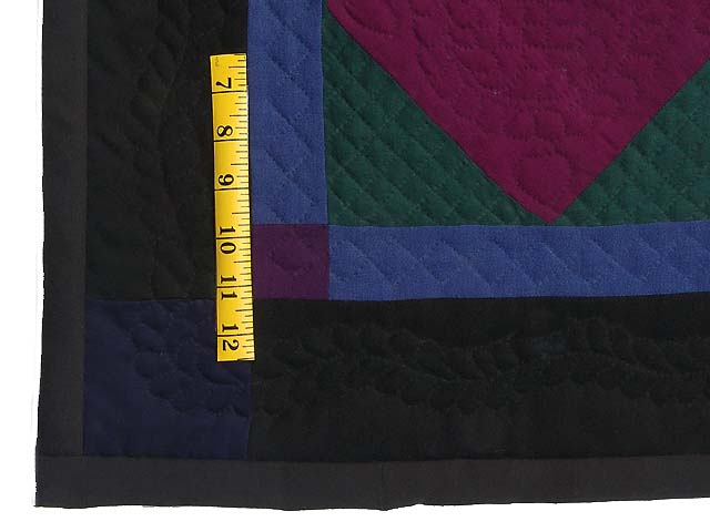 Amish Woolen Center Diamond Miniature Quilt Photo 3