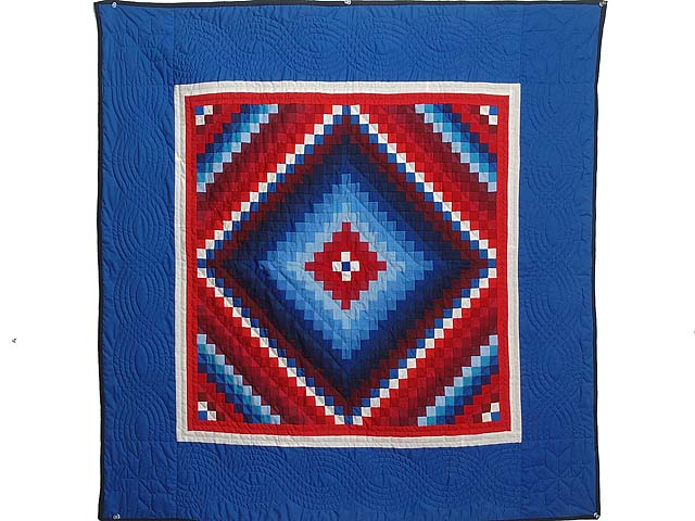 Red White and Blue Extra Fine Postage Stamp Trip Wall Hanging Photo 1