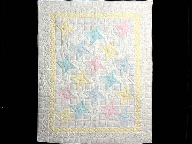 Pale Yellow and Pastels Friendship  Crib Quilt Photo 1