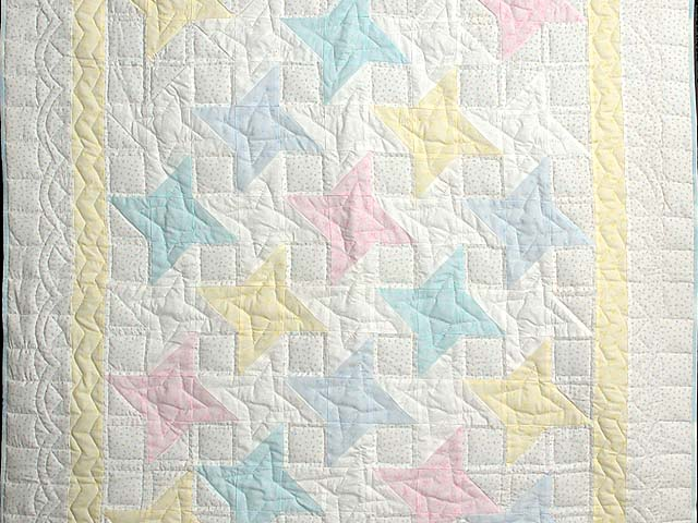 Pale Yellow and Pastels Friendship  Crib Quilt Photo 2