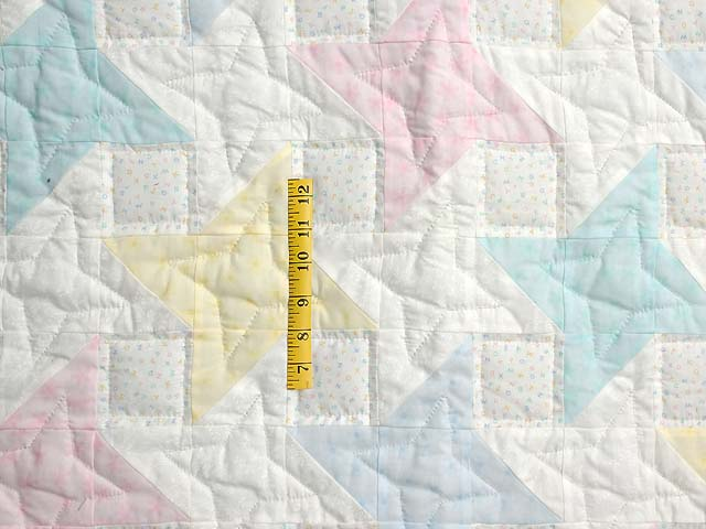 Pale Yellow and Pastels Friendship  Crib Quilt Photo 3