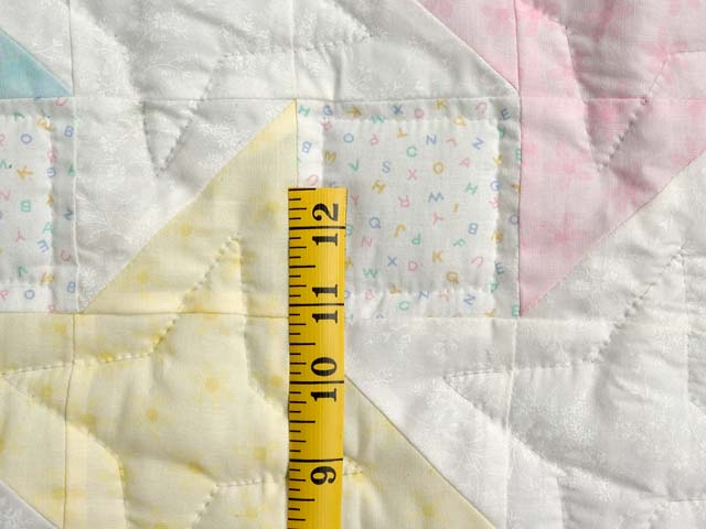 Pale Yellow and Pastels Friendship  Crib Quilt Photo 4