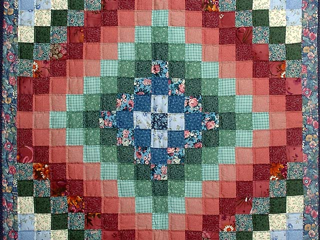 Multicolor Hit or Miss Crib Quilt Photo 2