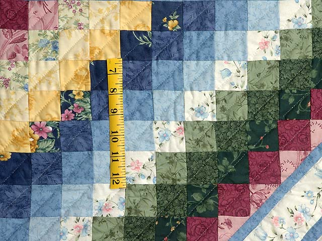 Pastel Blue ABC Crib Quilt Photo 5