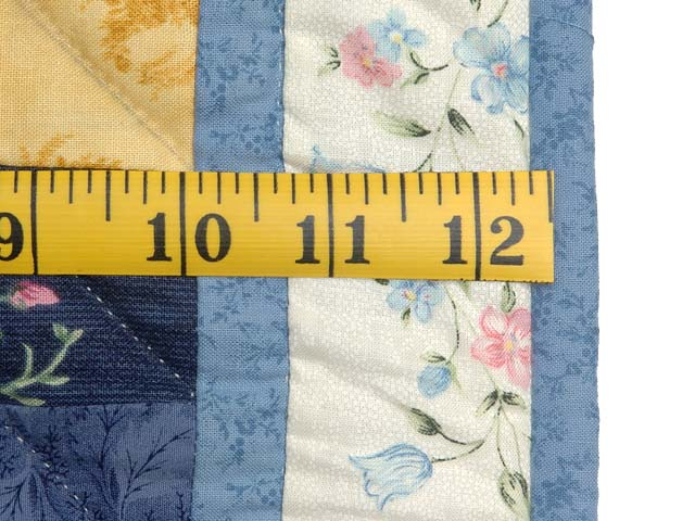 Pastel Blue ABC Crib Quilt Photo 6