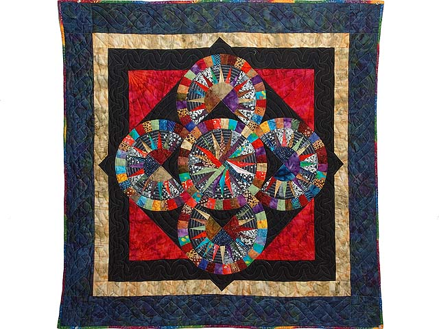Multicolor Quintuple Compass Star Wall Hanging Photo 1