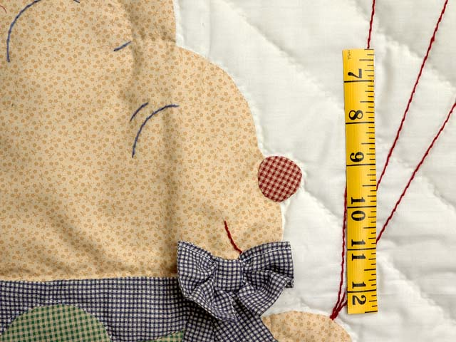 Plaid Party Bear Crib Quilt Photo 4