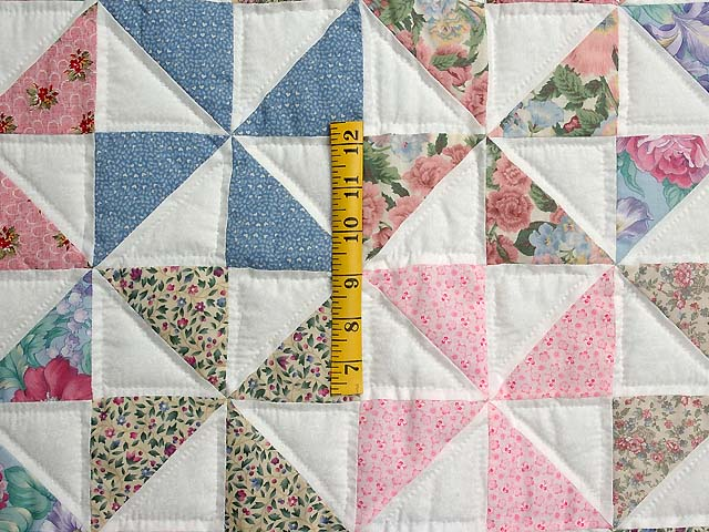 Pastel Green and Multicolor Pinwheel Crib Quilt Photo 3