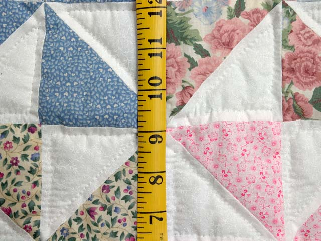 Pastel Green and Multicolor Pinwheel Crib Quilt Photo 4