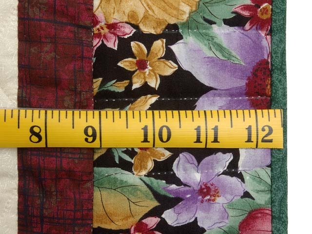 Rose Burgundy and Green Rose of Sharon Wall Hanging Photo 6