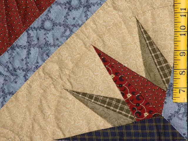 Navy Blue and Burgundy Mariners Compass with Geese Throw Photo 4