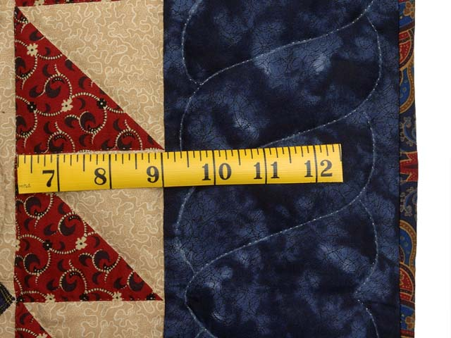 Navy Blue and Burgundy Mariners Compass with Geese Throw Photo 6