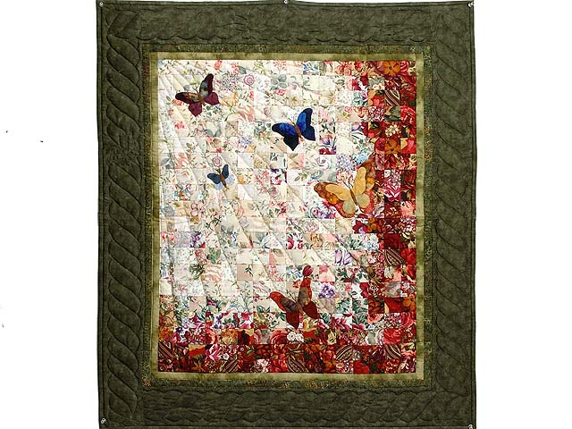 Moss Green  Watercolor The Journey Butterfly Wall Hanging Photo 1