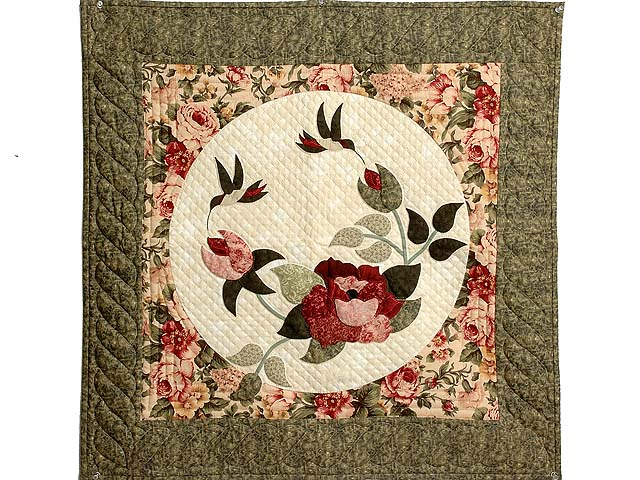 Rose and Moss Rose Garden Wall Hanging Photo 1