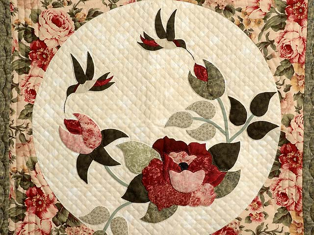 Rose and Moss Rose Garden Wall Hanging Photo 2