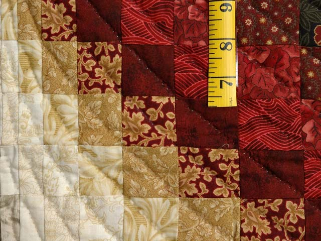 Moss  Red and Gold Bargello Wave Wall Hanging Photo 5